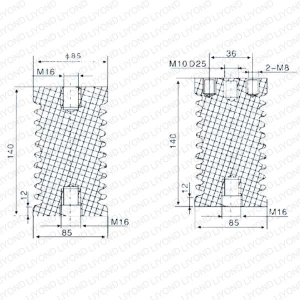LYC104 ZJ-12 12 кВ высокого напряжения эпоксидная смола изолятор