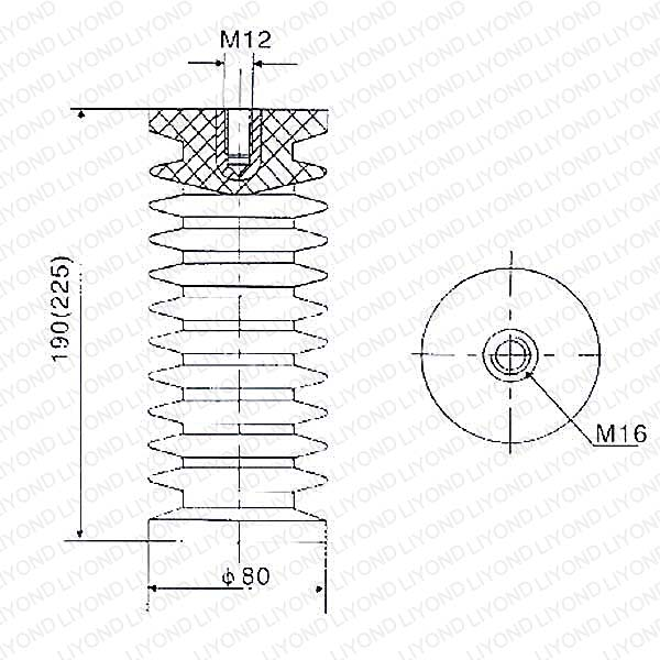 24кВ ZJ-24 LYC128 высокого напряжения эпоксидная смола изолятор