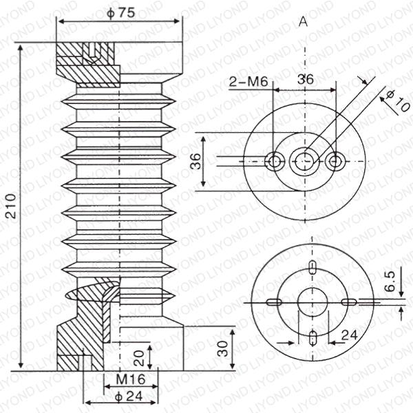 24kV изолятор LYC129 с эпоксидной смолой для высокого напряжения