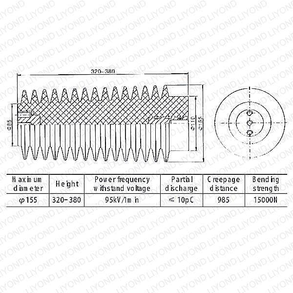 40.5kv LYC133 высокого напряжения эпоксидная смола изолятор в Китае