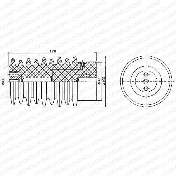 ABB Комплектные распределительные устройства Датчик LYC123 эпоксидной смолой 12 kV