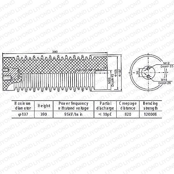 LYC136 40.5kV опорные изоляторы