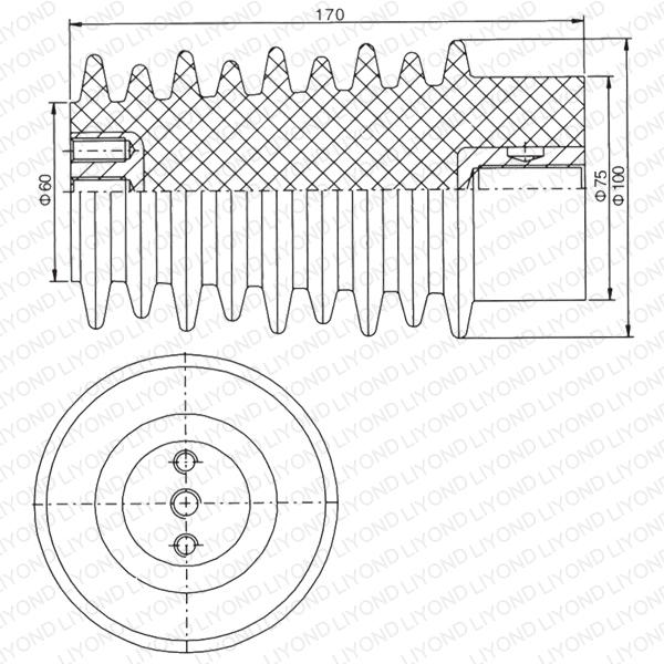 APG ремесло LYC115 красно-коричневый эпоксидная смола изолятор для распределительных устройств