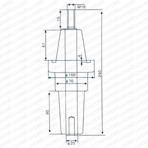 Аппарат Втулка DTGZ-15/240 эпоксидной смолой LYC167