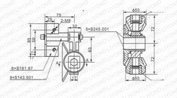 Bevel gear 5XS.245.002.1 drawing