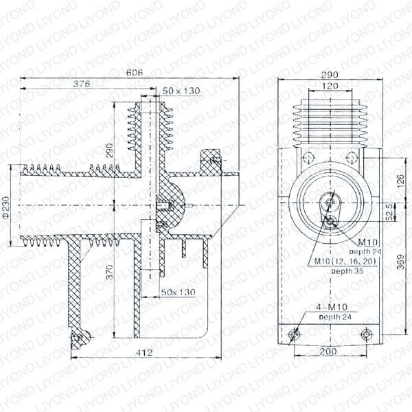 Большой Связаться Коробка с эпоксидной смолы 40.5kV Для выключателя LY113