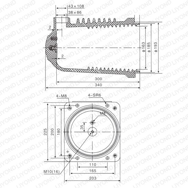Браун Контакты Коробка для электрические сети распределительных LY108