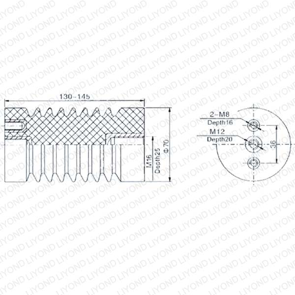 LYC110 12 кВ  Изолятор для