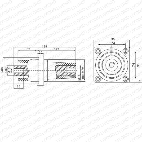 Втулка LYC169 Элегаз-24 Электрический изолятор для VCB