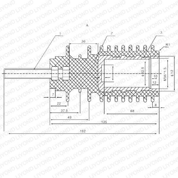 Китай Высокое напряжение Черный изолированный стержень LYC176