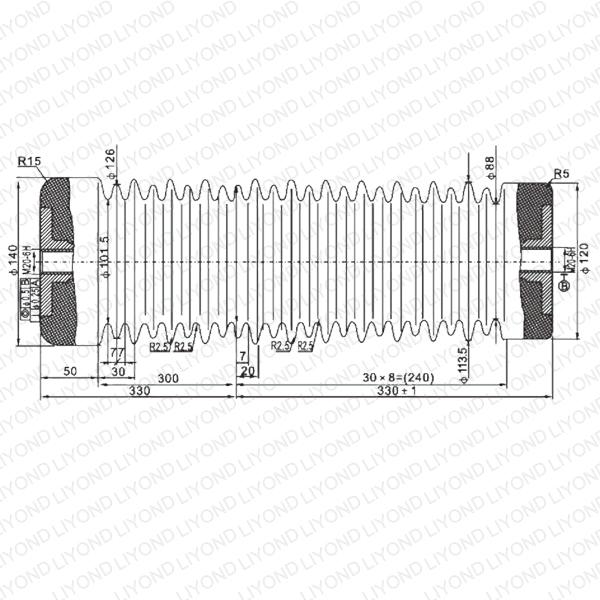 LYC141 ZJ-40.5 Изолятор опорный