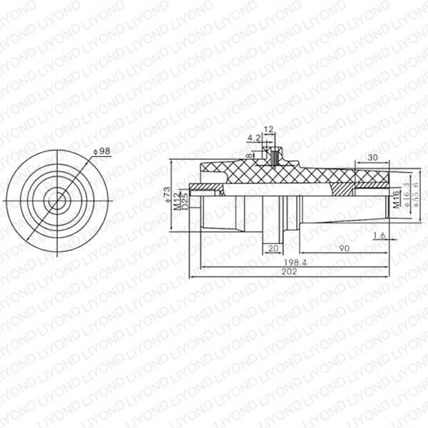 Композитный Полимер Изолятор Втулка LYC164 для высокого напряжения