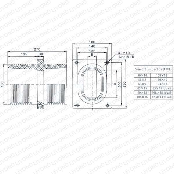 Связаться рукава LYC149 для распределительных щитов 12KV