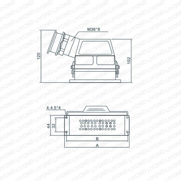 drawing CD-32 auxiliary circuit socket for vacuum circuit breaker