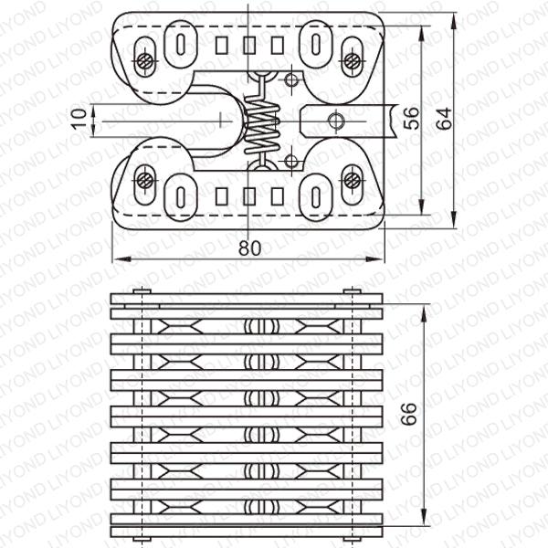 1250A весна плоские контакты для VCB