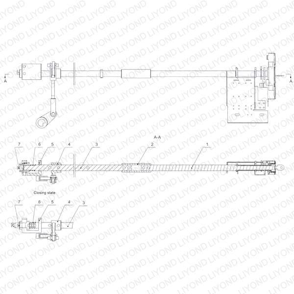 Earthing switch operation mechanism interlock device 5XS.363.010.3 drawing