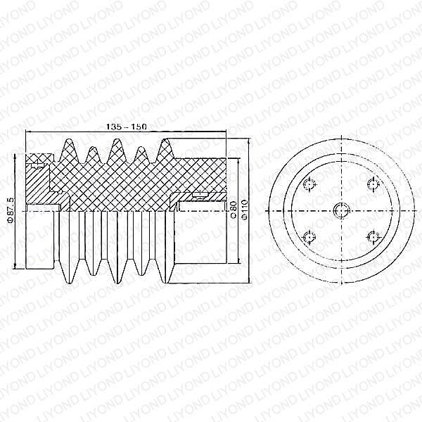 Электрический изолятор с эпоксидной смолой для КРУ LYC114 12 кВ