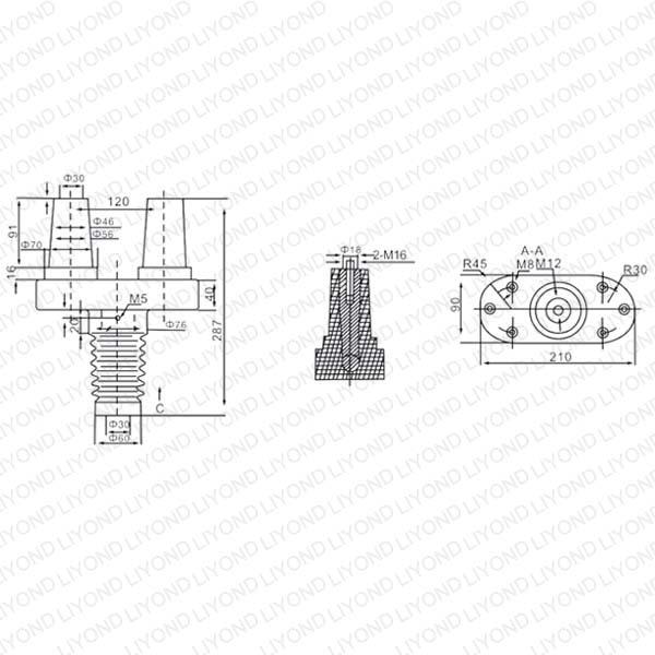 Эпоксидных вводов HCA-12 Изолятор LYC165
