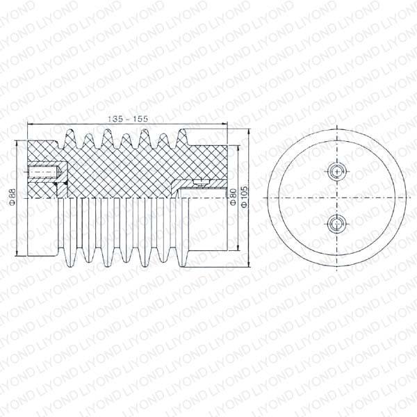 Эпоксидной Изолятор для Circuit Breaker LYC113 12 кВ