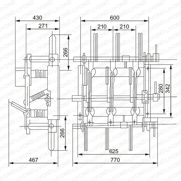 """Diagram 1 """"Wire"""" load break switch without release"""