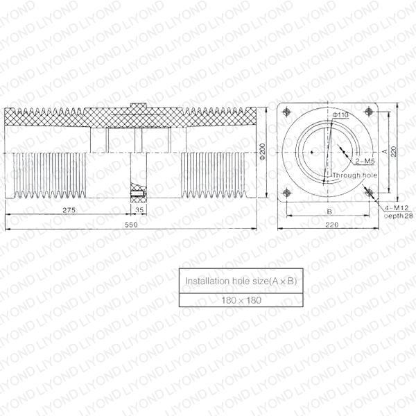 HV эпоксидная смола LYC154 Изоляционные Лист Уолл Втулка