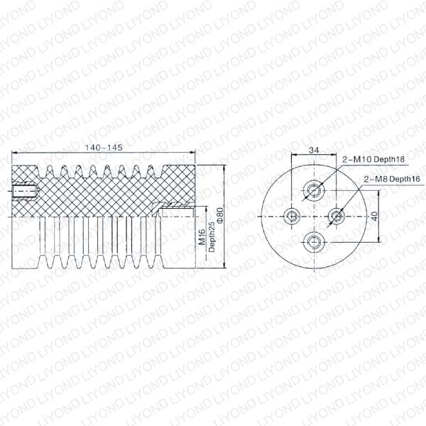 Высокое напряжение емкостный Изолятор для распределительных щитов LYC111