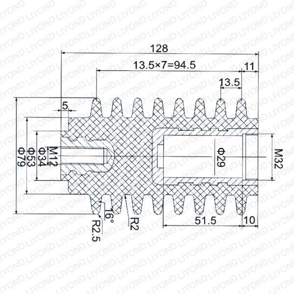 Изолированный контактный твердого опечатаны 630-1250A для высокого напряжения LYC171