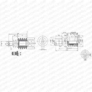 Изолированный стержень VS1-12 для высокого напряжения LYC170