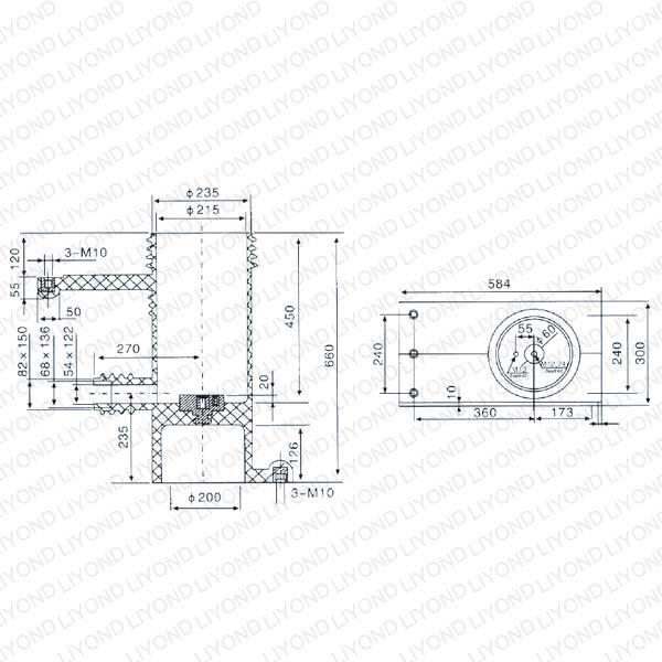 Изоляционные контакт коробка 40.5kV для высокого напряжения распределительного LY110