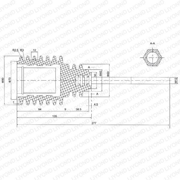 Изоляционные Тяга 12 кВ LYC173 для автоматического выключателя