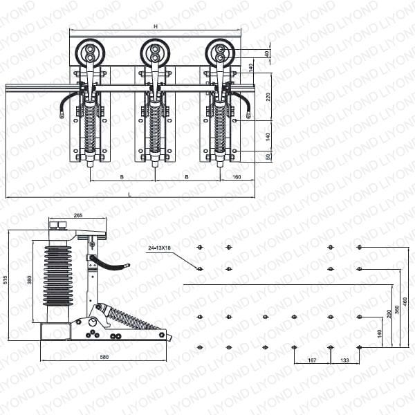 JN22-40.5/31.5 Крытый AC высокого напряжения разъединитель