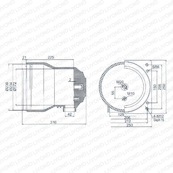 LY105 CH3-12/250 Эпоксидная смола Контакт Коробка для высокого напряжения