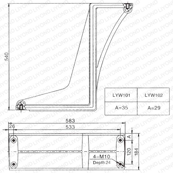 LYW101-102 эпоксидная смола изоляции Гибка Пластина для автоматического выключателя
