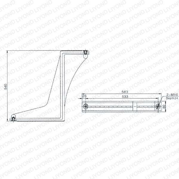 LYW103 Эпоксидная смола изоляции Бент Пластина для автоматического выключателя