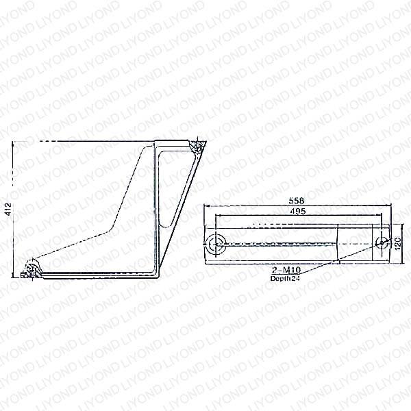 LYW104 Эпоксидная смола изоляции Бент Пластина для ABB Комплектные распределительные устройства