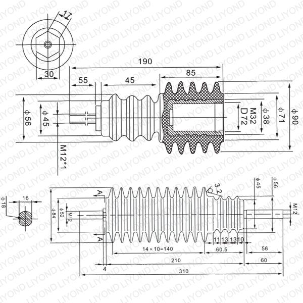 Светодиодные Бары Изоляционные LYC175 для HV