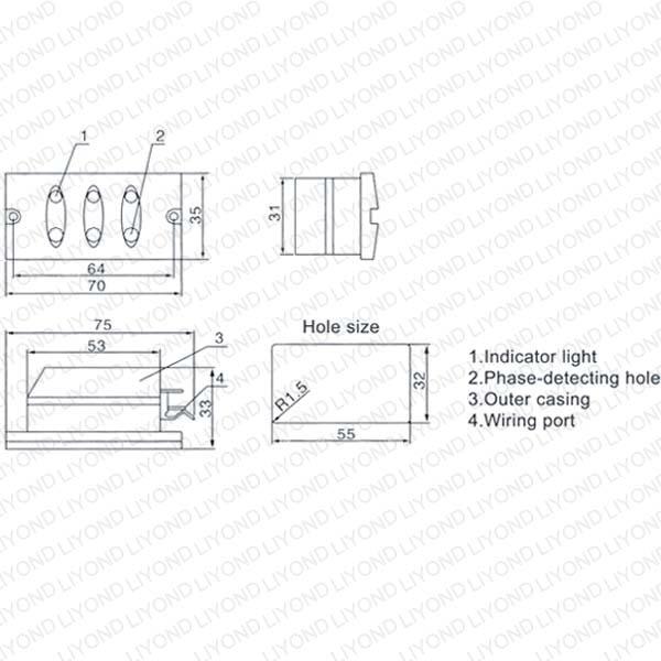 LYD103 Блок индикаторов напряжения