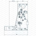 Структура и установка габаритный чертеж-1