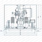 Структура и установка габаритный чертеж-2