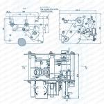 Структура и установка габаритный чертеж