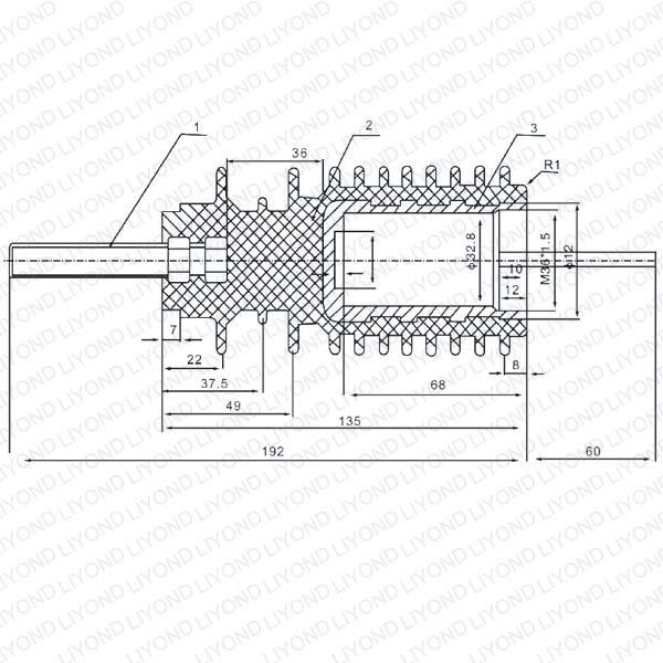 PA66 твердое уплотнение изолированный стержень LYC177 операционной