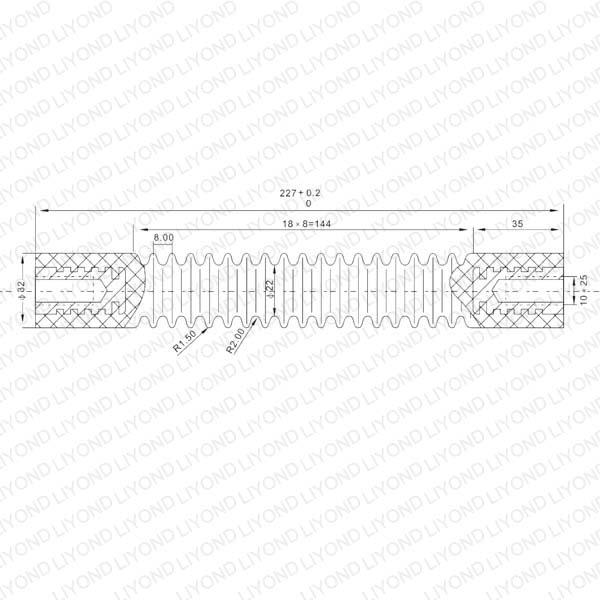 Тип Плато изоляцией стержня LYC179