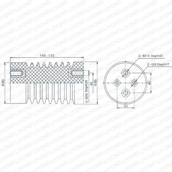 Красный Изолятор для высокого напряжения Комплектные распределительные устройства LYC109 12 кВ