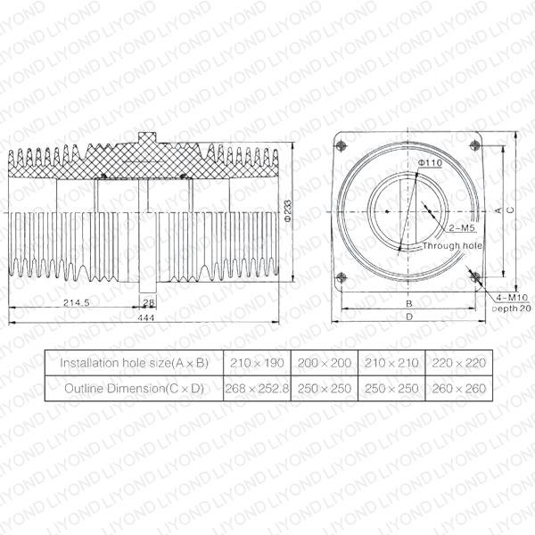 TG3-40.5 втулка LYC153 Крытый Лист Изоляционные для распределительных щитов