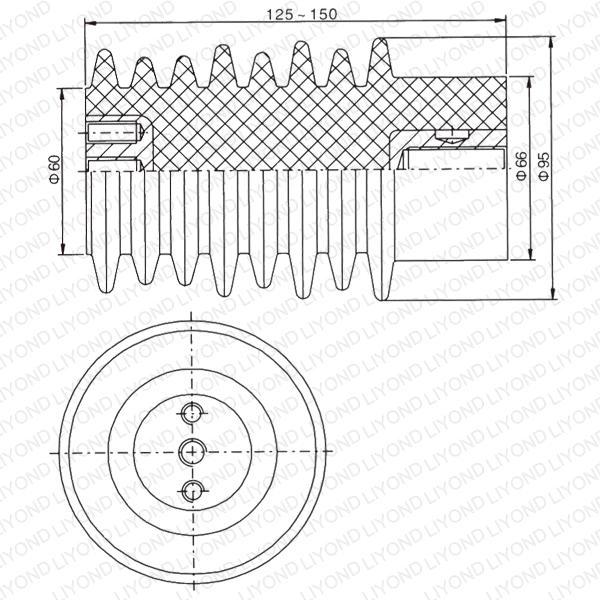 Делитель напряжения Сообщение эпоксидной Изолятор для распределительных щитов LYC112