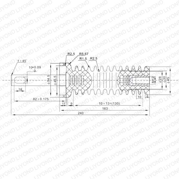 ZN28 12kV Insulated rod for Indoor автоматический выключатель LYC178