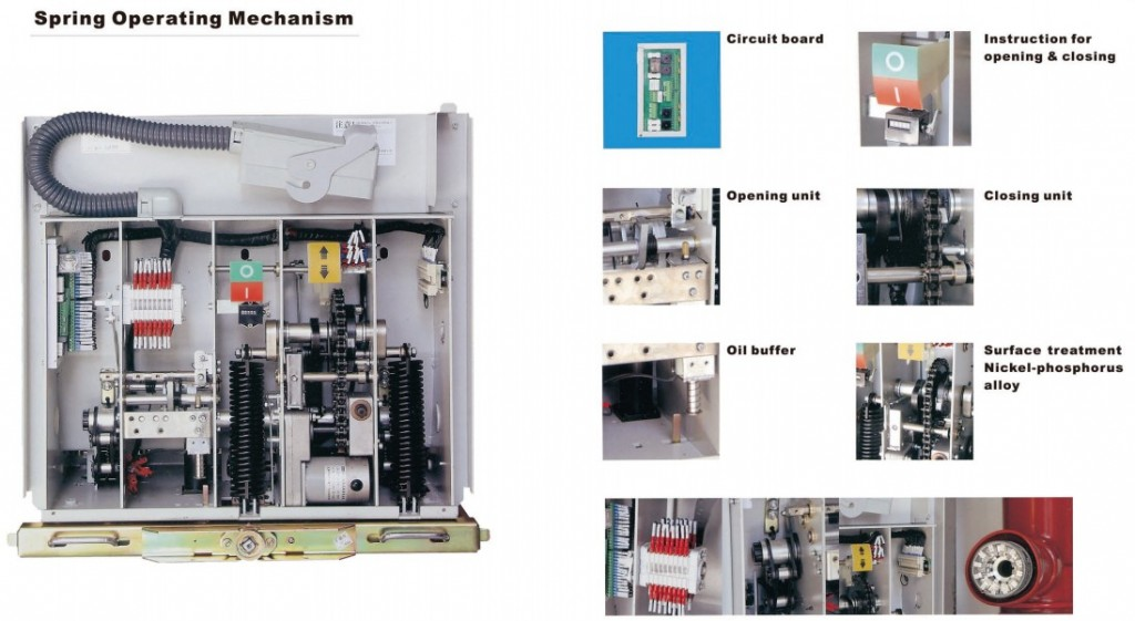 details VSG1-12 indoor AC Solid-Encapsulated high voltage vacuum circuit breaker for switchgear 12kV