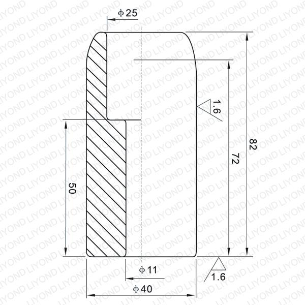 1250A неподвижный контакт для вакуумного выключателя LYB102