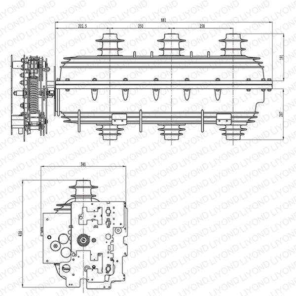 Разъединитель 24 кВ SF6 нагрузки
