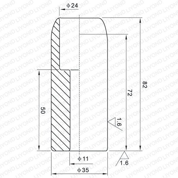 630A неподвижный контакт для вакуумного выключателя LYB101